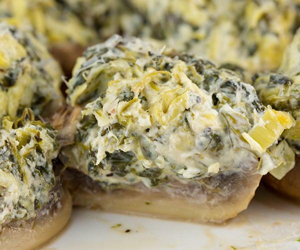 spinach artichoke stuffed mushrooms 4