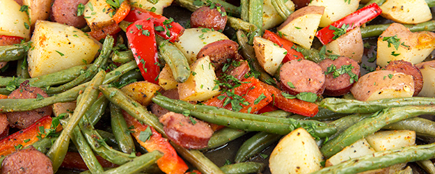 One Pan Sausage and Potatoes