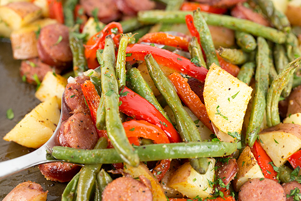 one pan sausage potatoes 5
