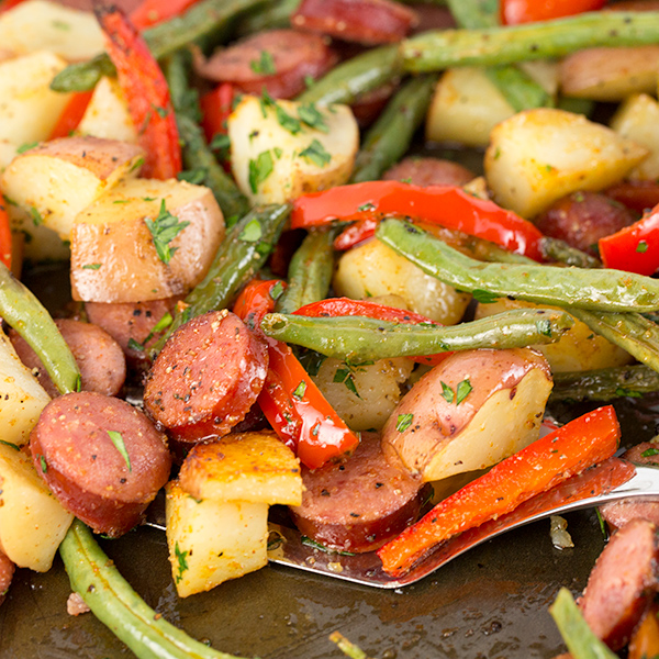 one pan sausage potatoes 6
