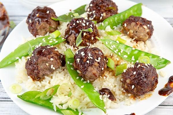asian glazed meatballs 3