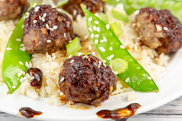 asian glazed meatballs 4