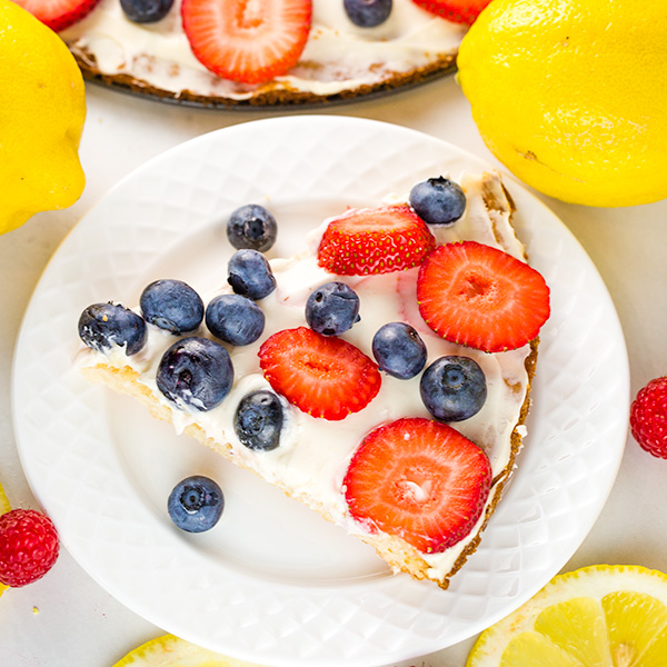 Red White and Blue Patriotic Dessert Tart