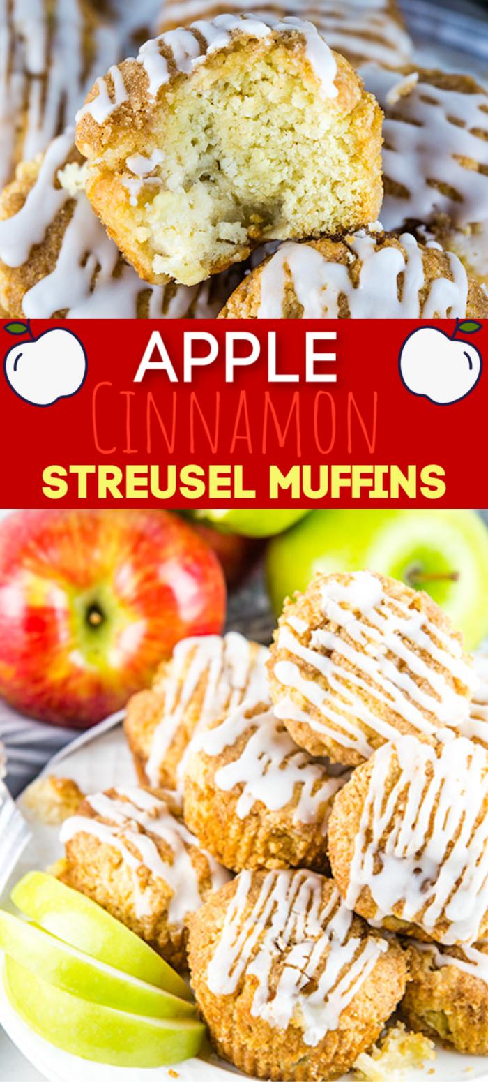 apple cinnamon streusel muffins pinterest