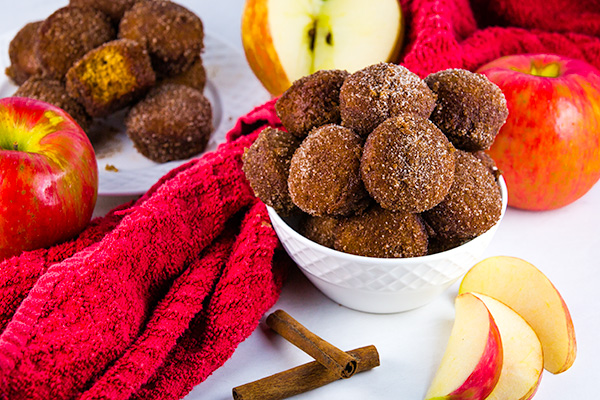 baked apple cider donut holes 4
