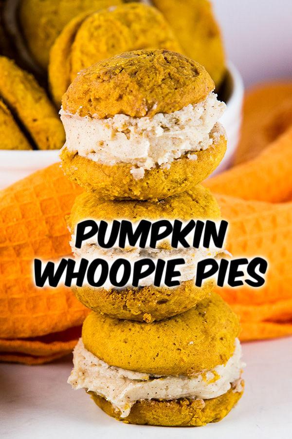 pumpkin whoopie pies cinnamon cream cheese frosting 2