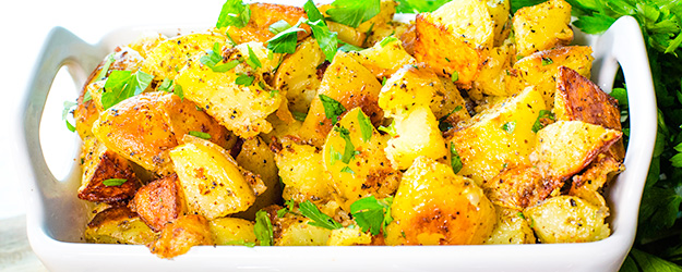 crispy parmesan roasted potatoes 1