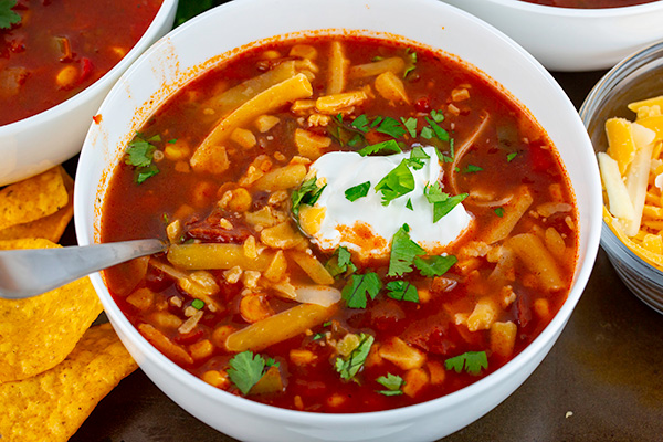 easy instant pot taco soup 4