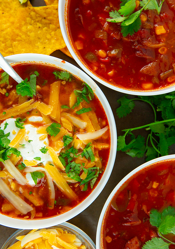 easy instant pot taco soup 5