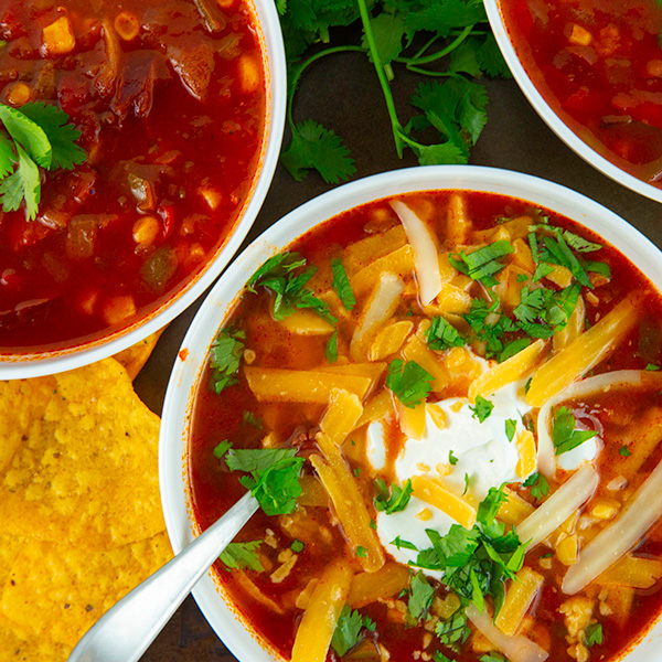 easy instant pot taco soup 6