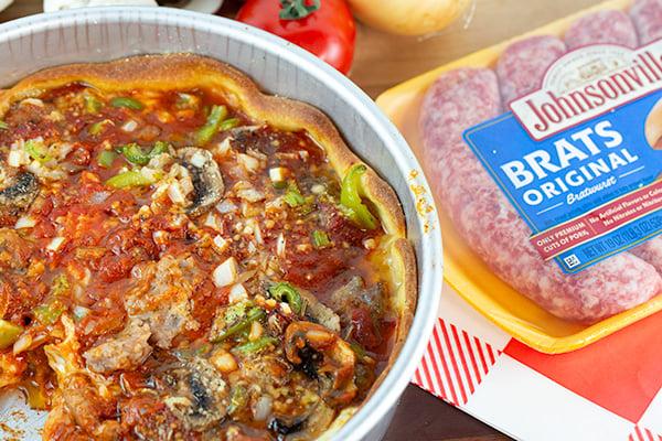 chicago style deep dish brat pizza 3